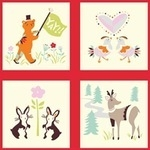 Birch Fabrics 'yay day' quilt blocks ORGANIC