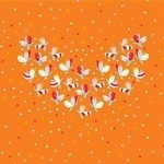 Birch Fabrics 'yay day' wings of love  - ORGANIC