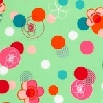 Robert Kaufman Hello Tokyo japanese floral and pattern on green