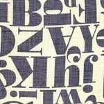 Michael Miller -just my type Letterpress in grey