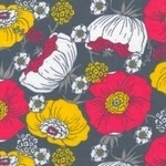 Rebekah Ginda flower heads on grey CORD