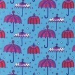 Rebekah Ginda decorative umbrellas on turquoise  CORD