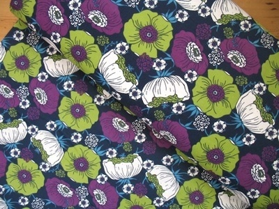 Rebekah Ginda flower heads on navy  CORD