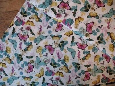 Hoffman Bohemia Scrapbook  primrose butterfly