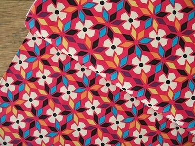 Robert Kaufman  Sierra geometric flower in Summer