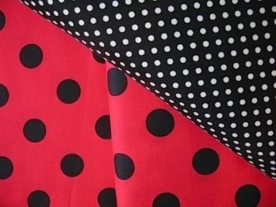 Lecien 20mm ladybird spot - black on red