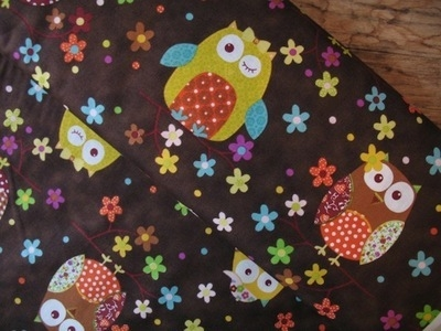 Stof owls on a date on brown