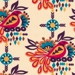 Robert Kaufman Sierra Aztec bird on cream
