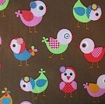STENZO Cotton Poplin wide eyed birds Okotex standard 100- WIDE