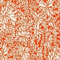 Valori Wells Quill embrace scattered flower in mango orange