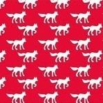 Copenhagen Print Factory ORGANIC foxes on red