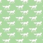 Copenhagen Print Factory ORGANIC foxes on mint