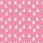 Copenhagen Print Factory ORGANIC doves on baby pink