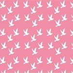 Copenhagen Print Factory ORGANIC doves on baby pink