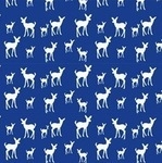 Copenhagen Print Factory ORGANIC deer on navy