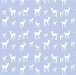 Copenhagen Print Factory ORGANIC deer on baby blue