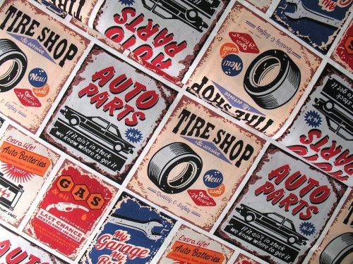 STENZO Cotton Poplin 'my garage, my rules' on Okotex standard 100- WIDE