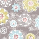 Rebecca Stoner Prairie lace pinwheel tower heads  on grey