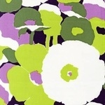 Robert Kaufman Auntie's Attic printed canvas large scale flower