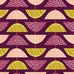 BOLT END -Wendy Kendall Retro orchard geo fruit slice in grape