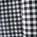 Sevenberry natural gingham print black on linen mix