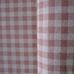 Sevenberry natural gingham print pink on linen mix