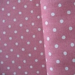 Sevenberry natural 5mm spot on pink linen mix
