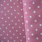 Sevenberry natural 5mm spot on pink linen mix