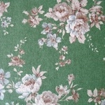 Sevenberry natural  flower blooms green linen mix