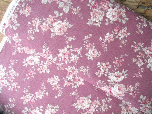 Sevenberry natural  flower blooms vintage pink  linen mix