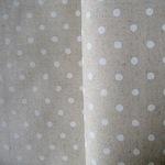 Sevenberry white  5mm spot on natural  linen mix