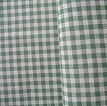 Sevenberry natural gingham print green on linen mix