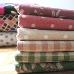 Mini Cloth Stack japanese floral linen mix