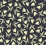 Carolyn Gavin Petite Fleur  tulips on navy  ORGANIC