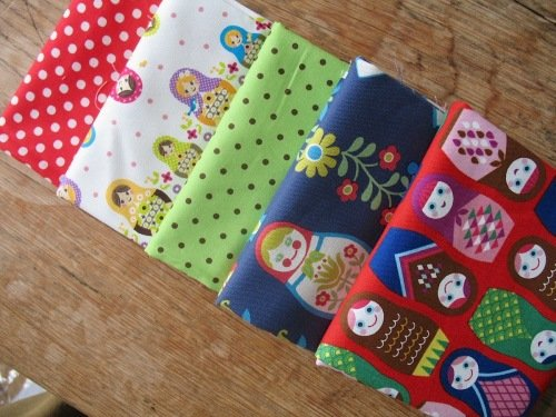 Fabric cloth stack  - The Japanese  Russian dolls … are coming ..