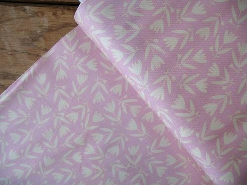 Carolyn Gavin Petite Fleur  tulips on pink ORGANIC
