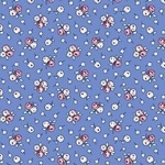 Judie Rothermel Aunt Grace miniatures 2 victorian flowers on blue