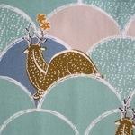 Hokusai Deer in Hllcock Japan oxford cotton