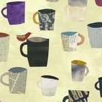 Carrie Bloomston COLLAGE mugs in paper