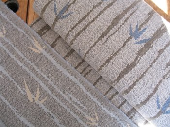 Double Weaved jacquard Japanese bamboo in greys and blues