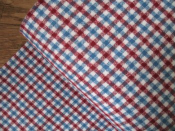 Robert Kaufman Mammoth FLANNEL Americana in red and blue