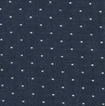 Robert Kaufman Chambray cotton dots in indigo (wide)