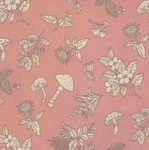 Sevenberry Japan wild flowers and thistles on soft pink