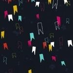Rashida Coleman - Hale -Moonlit mini flags on black COTTON LAWN