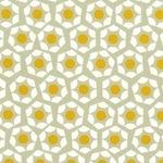 Rashida Coleman - Hale -Moonlit marigold hexies on grey