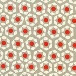 Rashida Coleman - Hale -Moonlit poppy hexies on grey