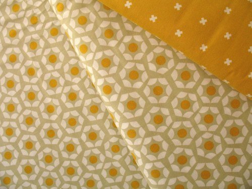 Rashida Coleman - Hale -Moonlit marigold hexies on grey