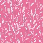 Bethan Janine Cuckoo Calling silhouette of feather stem on pink