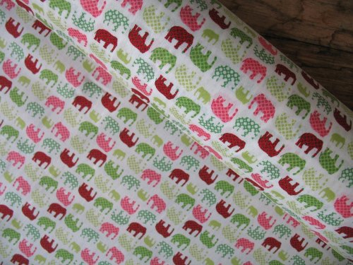 Ultimate textiles Nellies in green and pink