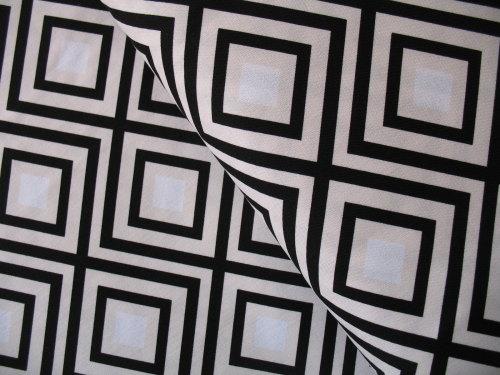 Emmie K for Robert Kaufman Geo Pop canvas diamonds in black